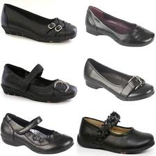 GIRLS SCHOOL SHOES NEW KIDS FORMAL VELCRO PARTY EVENING BLACK FANCY SHOES SIZE