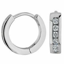 Women White Gold Filled Small Hoop Earrings CAGM083A4