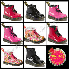 DR. MARTENS . BROOKLEE B . INFANT LEATHER CASUAL BOOTS . ASSORTED COLORS
