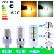 E27 E14 G9 4.5/6/8W SMD 5050 LED Corn Light Lamp Bulbs Warm Cool White 110V/220V