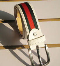 New Fashion Stylish Weaving 2 colors stripe mens womens belt--UK  FO