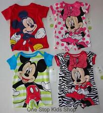 MICKEY or MINNIE MOUSE Baby Infant Boys Girls 3 6 9 Months ROMPER Outfit DISNEY