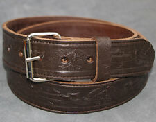 Brown Eagle biker Belt Hand Made Real Leather Made in England 38mm large xl xxl
