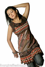 Ladies Floral Tunic Dress Top