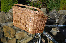Wicker Dog Cat Kitten Pet Shopping Bike Bicycle Picnic Carrier with Handel