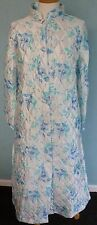 Button up through quilt dressing gown robe nightwear very slight sec  K