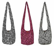 Big Shell Printed Crossbody Sling Shoulder Bag Purse Thai Hippie Hobo Artsy