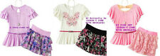 * NWT NEW GIRLS 2PC Knitworks Butterfly SUMMER OUTFIT SET 10 12 14 16