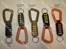 550 Paracord Survival Key Chain - FOB with Carabiner and Metal Ring