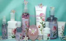 BATH BODY WORKS PEONY CREAM LOTION MIST SPLASH SHOWER GEL WASH FULL/TRAVEL SIZE