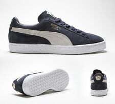 Mens Puma Suede Navy/Gold/Grey Trainers