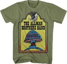 Allman Brothers Band, The Hell Yeah S, M, L, XL, 2XL Military Green T-Shirt