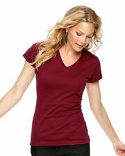 LAT - Junior Fit Fine Jersey V-Neck Longer Length T-Shirt - 3607