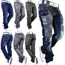 Kosmo Lupo Herren Star Japrag Jeans Mens Hose Pants Denim All Sizes Top New Neu
