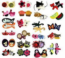 BN - Novelty Funky Hand Stitched Felt Fings Brooches / Badge Beads & Buttons