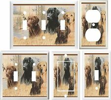 BLACK GOLDEN & CHOCOLATE LABS BIRD DOGS DOG SWITCH OR OUTLET COVER V227