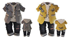 Handsome baby boys clothes 3PCS/SET suits+hoody+jeans baby boys set outfits