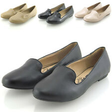 NEW WOMENS FLAT LOAFERS LADIES SLIP ON CASUAL PUMPS BALLERINA SLIPPERS SHOES 3-8