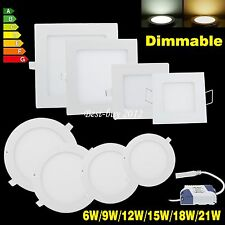 Dimmable 6W 9W 12W 15W 18W 21W LED Recessed Ceiling Panel Downlight Bulb Lamp BB