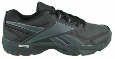 Reebok Daily Cushion RS Extra Wide 4E Black Men's Leather Walking Shoes V54737