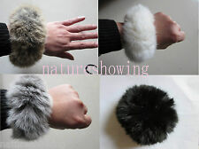 Free Shipping/ Real Rabbit Fur ponytail holder hair band scrunchie/many color