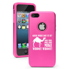 For iPhone 4 4S 5 5S 5c Hot Pink Aluminum Silicone Hard Case Hump Day Camel