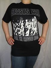 Senses Fail To All The Crowded Rooms T-shirt Metalcore Hardcore Blank Back