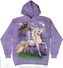 Unicorn Castle Sweatshirt Hoodie by The Mountain. Fantasy Sizes S-2XL NEW