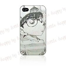 Anime Detective Conan Japanese Cover Hard Case For Iphone 4 / 4s / 5 Black White