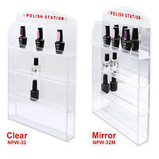 Acrylic Nail Polish Wall Rack Display (Holds 32, 60, 72, or 96 Bottles) Mirror