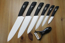 "White Ceramic Knife Choice 3""4""5""6""7""8""Peeler Sharp Chef Kitchen Cutlery Knife"