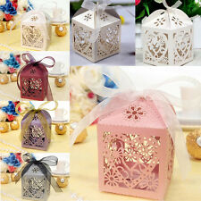 10/50/100 Pcs Love Heart Party Wedding Favor Ribbon Candy Boxes Gift Box #YMLA8