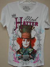 Disney White (The Mad Hatter from Alice in Wonderland) T-shirt
