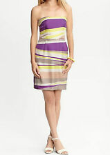 NWT Banana Republic $130.00 Women Abstract Print Silk Strapless Dress Size 12