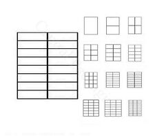 PRINTER LABELS A4 (16 Label Per Sheet)Blank Address Self Adhesive Sticky Posting
