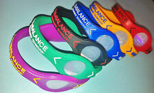 Power Balance Wristband Bracelet Colour Strength Size Team Sport NBA Basketball