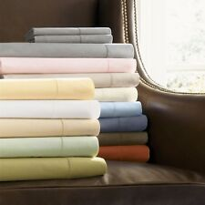 "1200 Thread Count Sheet Set 24"" Inches 100% Pure Cotton ---5 High Sheet Color's"