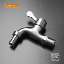 Deluxe 304 Stainless Steel Casting Outdoor/Garden/Washing Machine Tap Faucet