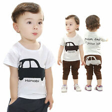 New Cartoon Cotton Baby Boy Clothing 2PCS/SET T-shirt+Shorts Toddler boy summer