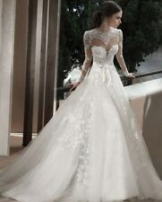Hot Mermaid white/ivory lace Ball Gown Bride Wedding Dress custom madeHot Mermai