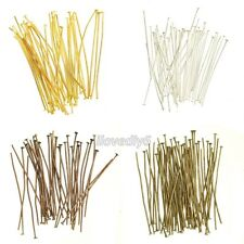 100Pcs Silver/Gold/Copper/Bronze Color Metal Head Pins Jewelry Finding 15mm