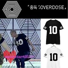 Kpop EXO OVERDOSE MV Same Style T-Shirt Black/White Hip Hop Tee New