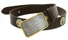 "The Western Ranch -  Western Cross Concho Genuine Leather Belt, 1-1/2"" Wide"