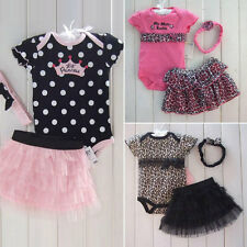 Brand New Cute Lovely Outfits Sets Girls Baby Newborn Clothes Pincess Skirt