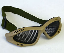 New Tactical Paintball Metal Wire Mesh Glasses Eyewear Airsoft Safety Goggle
