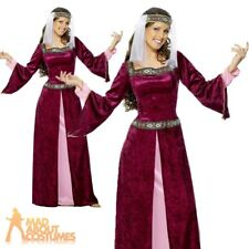 Deluxe Adult Maid Marion Costume Fancy Dress Ladies Womens Robin Hood Size 8-26