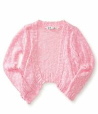 NWT KIDS PS AEROPOSTALE GIRLS SIZE 8 10 OPEN FRONT CROPPED PINK CARDIGAN SWEATER