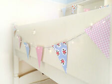 LED Fairy lights Bunting garland. 40 LEDs / 13 Flags Vintage Floral Shabby chic
