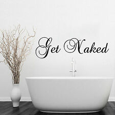 Get Naked Bathroom Wall Sticker Vinyl Decal funny home wc graphic transfer