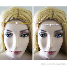 Delicate Medieval Headpiece Freshwater Pearl Circlet Hair Chain  Choose Colour